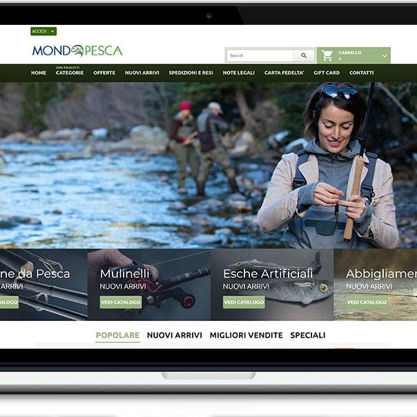 Mondo Pesca - sito web e-commerce