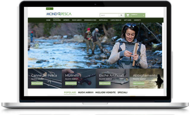 Mondo Pesca - sito web e-commerce
