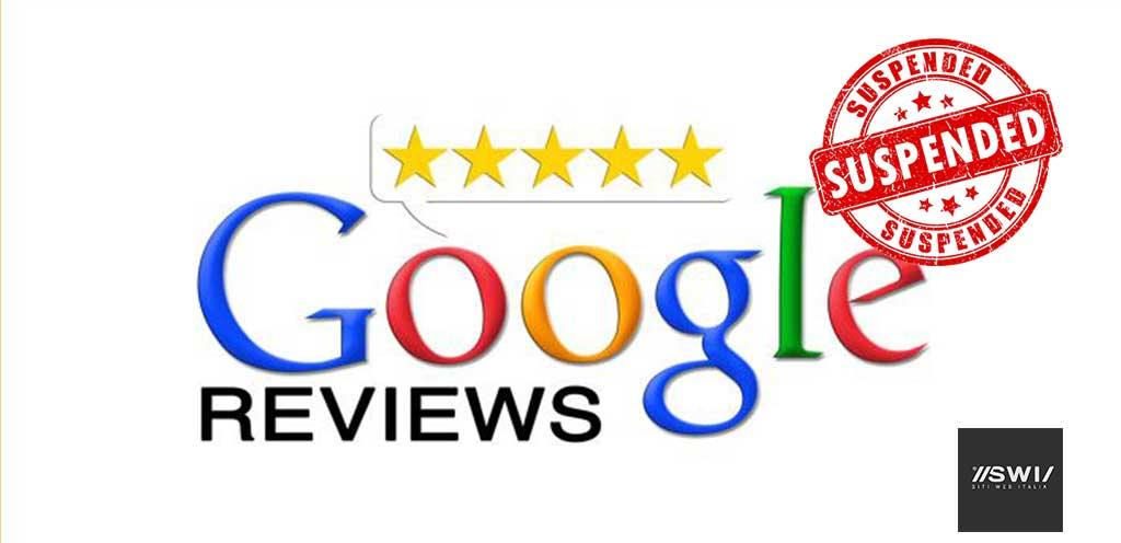 Google My Business - Sospensione delle Recensioni per Covid 19